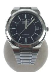 Eco-Drive/デイト/ソーラー腕時計/アナログ/ブラック×シルバー/E111-S027161