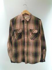 Shorthorn Green Check Flannel Shirt/S/コットン/ブラウン/チェック