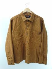 ×JOURNAL STANDARD relume/フェイクスウェードシャツ/M/ポリエステル/ブラウン