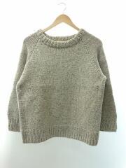 モックネックセーター(厚手)/茶タグ/ウール/ベージュ