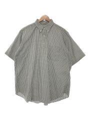 20SS/BEAMS PLUS別注オックスフォードプルオーバーボタンダウンシャツ/L/ホワイト/チェック