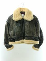 17AW/Antique Leather Big Blouson/0/牛革/グレー/無地/207352001