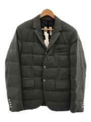 19AW/HELIERE QUILTED DOWN JACKET/2/ウール/グレー