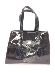 Patent leather Tiger Tote/エナメルタイガートートバッグ/PVC/ブラック