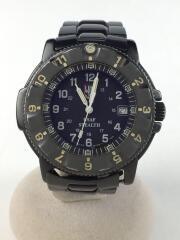 クォーツ腕時計/アナログ/ブラック/傷有/NIGHTHAWK/F-117