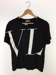 Tシャツ/M/コットン/BLK// イニシャルロゴプリント