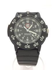 クォーツ腕時計/アナログ/ラバー/BLK/3000/3900 v3