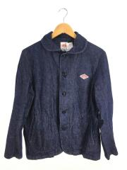 カバーオール/38/ROUND COLLAR DENIM JACKET/IDG/JD-8715 YMN