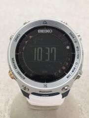 ソーラー腕時計/デジタル/ラバー/ブラック/ホワイト/S833-00A0