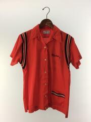 半袖シャツ/38/--/RED/ボーリングシャツ