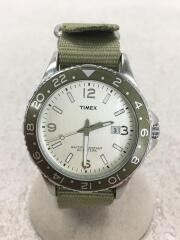クォーツ腕時計/アナログ/カーキ/WR 50M