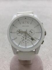 クォーツ腕時計/アナログ/ラバー/ホワイト/AX1325/クロノグラフ/
