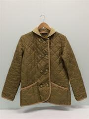 キルティングジャケット/36/ポリエステル/BEG/正面に3箇所ほつれあり/両袖に使