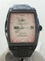 クォーツ腕時計/アナログ/ステンレス/PNK/SLV/NQAC-SO/スリースター