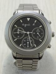 agnes b./アニエスベー/クォーツ腕時計/アナログ/ステンレス/ブラック/SLV/白