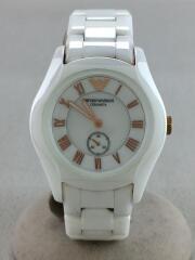 クォーツ腕時計/アナログ/--/WHT/WHT/ホワイト/AR-1418