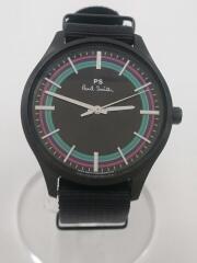 クォーツ腕時計/アナログ/ナイロン/ステンレス/BLK/BLK/BT2-840-52