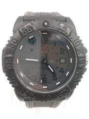 クォーツ腕時計/アナログ/ラバー/BLK/BLK/SERIES3050/3950/ブラックアウト