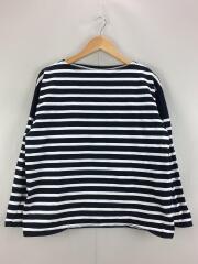 長袖Tシャツ/S/コットン/NVY/ボーダー/112-04-0121
