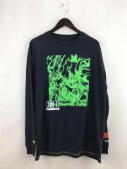 ヘロンプレストン/ロンT/長袖Tシャツ/S/ブラック/T-SHIRT REG LS BOX SKULL