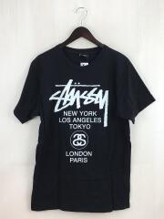 ステューシー/Tシャツ/M/コットン/ブラック/ロゴプリント/カットソー