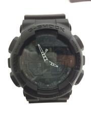 クォーツ腕時計・G-SHOCK/デジアナ/ラバー ブラック GA-100-1A1JF