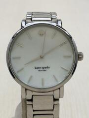 ケイトスペードニューヨーク/クォーツ腕時計/アナログ/ステンレス/SLV