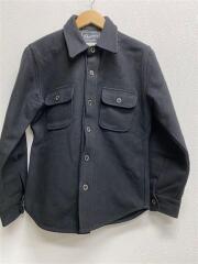 フェローズ/長袖シャツ/40/ウール/BLK/無地/CPOジャケット