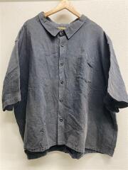 フーワット/5XL SHIRT/コットンリネン/半袖シャツ/リネン/BLK