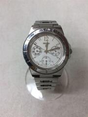 腕時計/アナログ/ステンレス/ホワイト/白/シルバー/銀/電池切れ/5Y89-0B30