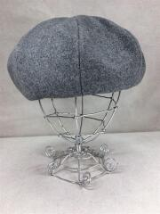 ベレー帽/ウール/グレー/灰/無地/日本製/DOU01040