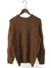KK182MW13011/セーター(厚手)/38/ウール/ブラウン/茶/英国製