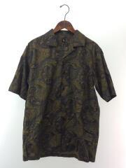 KS20SSH06/半袖オープンカラーシャツ/38/コットン/カーキ/総柄/日本製