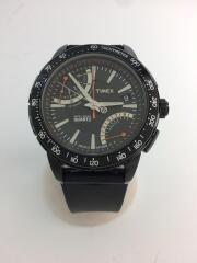 T2N707/インテリジェントフライバッククロノグラフ/腕時計/アナログ/ラバー/BLK/黒