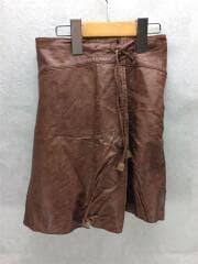 スカート/130cm/フェイクレザー/ブラウン/茶/無地