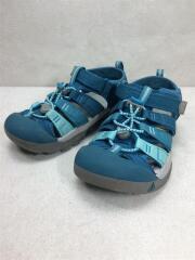 キッズ靴/21cm/サンダル/ポリエステル/BLU