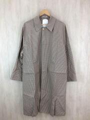 FINX WEATHER CLOTH CHECK COAT/ステンカラーコート/4/コットン/ベージュ/チェック