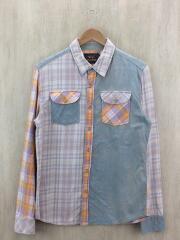 022070081/長袖ネルシャツ/M/コットン/マルチカラー