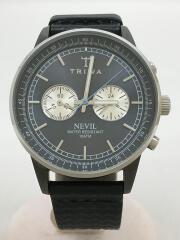 トリワ/クォーツ腕時計/アナログ/ネイビー/NEVIL/NEST110/レザーベルト