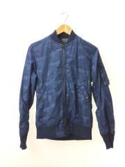 フライトジャケット/S/ナイロン/21208-004/カモフラ 迷彩 ブルー MA-1