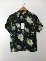 半袖シャツ/--/レーヨン/BLK/花柄