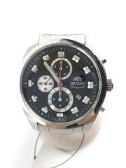 クォーツ腕時計/アナログ/ステンレス/BLK/SLV/TTOU-C2B CA