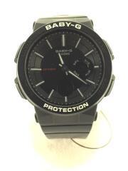 クォーツ腕時計/デジアナ/ラバー/BLK/BLK/BGA-255
