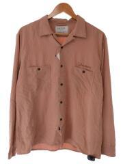 オープンカラーシャツ/3/ポリエステル/PNK