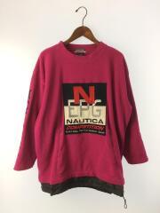 フロント刺繍/袖刺繍/スウェット/L/コットン/PNK/フリースジャケット