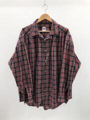 ギャザーシャツ/ペインターシャツ/長袖シャツ/L/コットン/チェック
