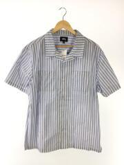 半袖シャツ/XL/コットン/ストライプ