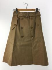 20SS/トレンチデザインスカート/XS/コットン/BRW/AD2019/JE-S037