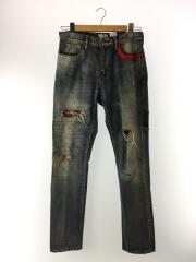 CUSTOM DENINM PANTS BASIC/汚れ有/M/コットン/BLU/70863651