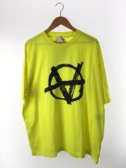 オーバーサイズアナーキー Tシャツ/Tシャツ/XS/コットン/YLW/プリント